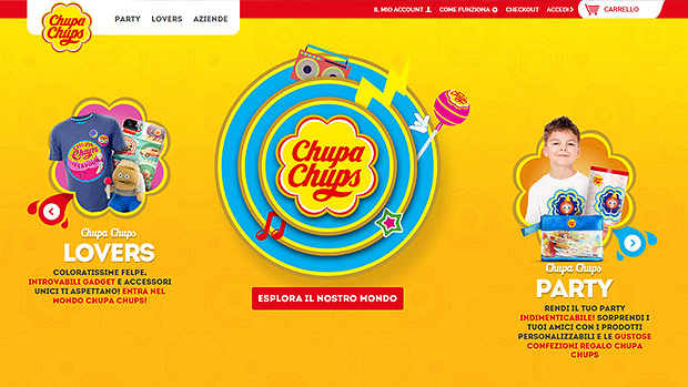 The first Chupa Chups on-line shop